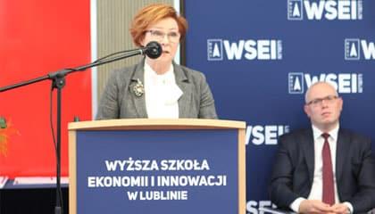 Wystąpienie Inauguracyjne Teresy Bogackiej, Kanclerz Wyższej Szkoły Ekonomii i Innowacji w Lublinie