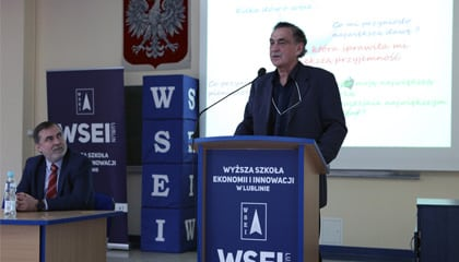 Spotkanie studentów z Panem Januszem Liberkowskim