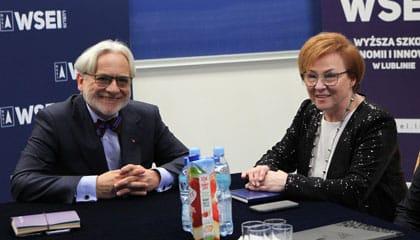 Wiceminister Nauki i Szkolnictwa Wyższego odwiedził WSEI