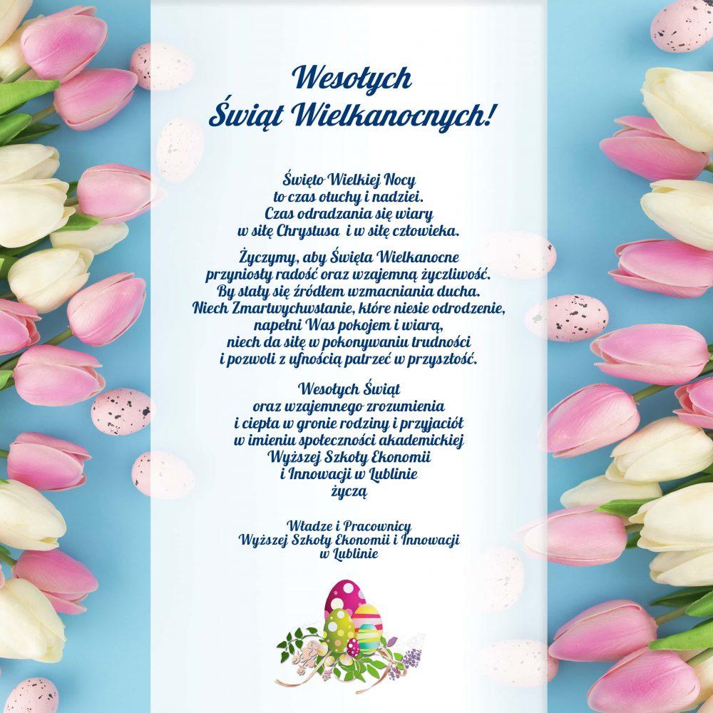 WSEI_Lublin wielkanoc życzenia